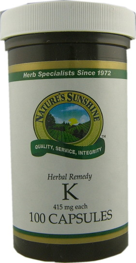 Natures Sunshine K Capsules (100) - Health Delivery